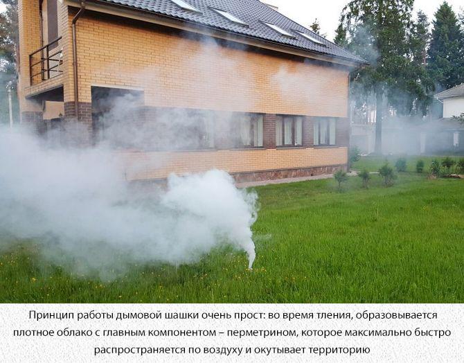Применение дымовой шашки от комаров на участке
