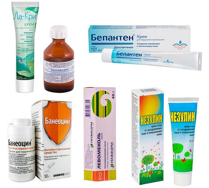 Регенерирующие, негормональные противозудные препараты