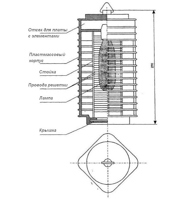 Схема электрической ловушки для насекомых