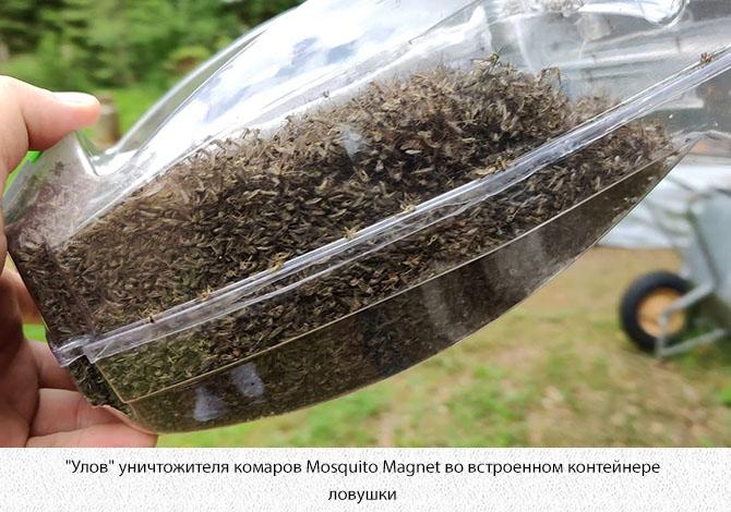 Контейнер уничтожителя с комарами