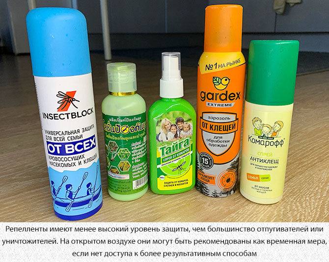 Спреи и аэрозоли от комаров
