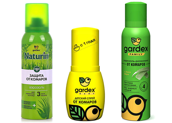 Аэрозоли и спреи от комаров Gardex