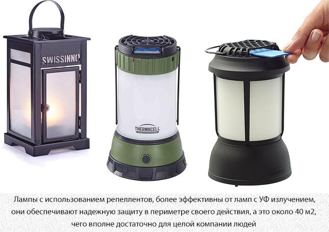 Лампы от комаров с репеллентом или инсектицидом