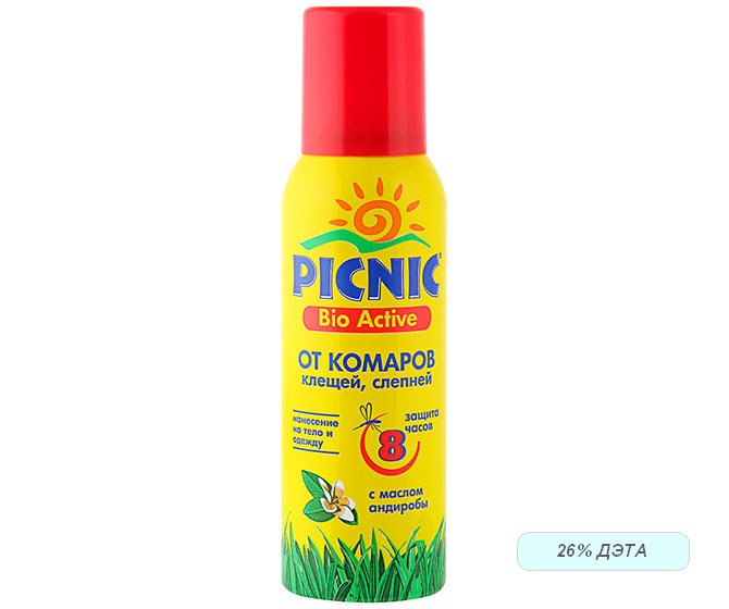 Аэрозоль от комаров и клещей Picnic Bio Active