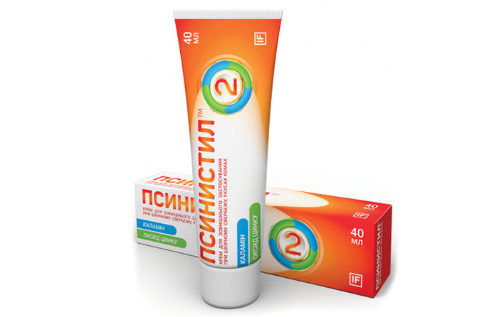 Комбинированное средство, эффективно устраняющее раздражение и зуд от укусов Псинистил