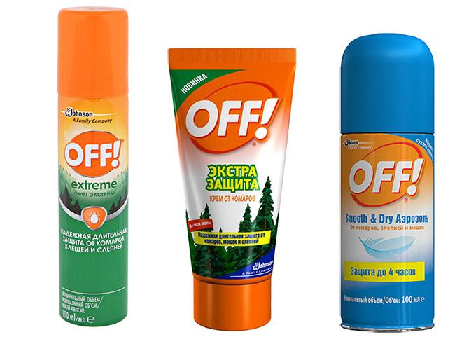 Средства для отпугивания комаров OFF!