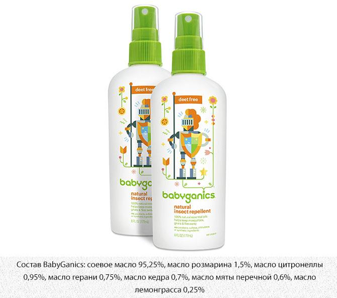 Натуральный спрей от комаров BabyGanics