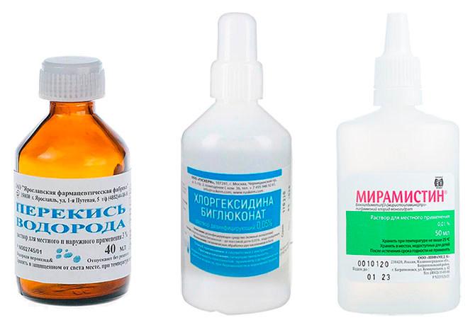 Антисептические средства при укусах комаров