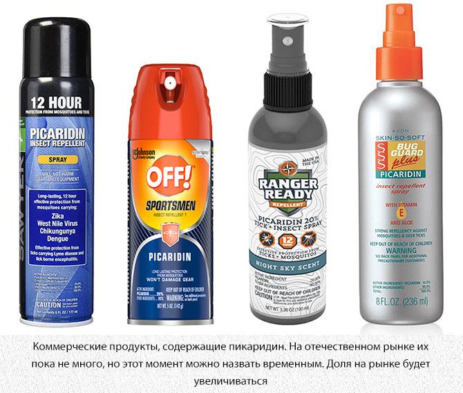 Средства от комаров с пикаридином