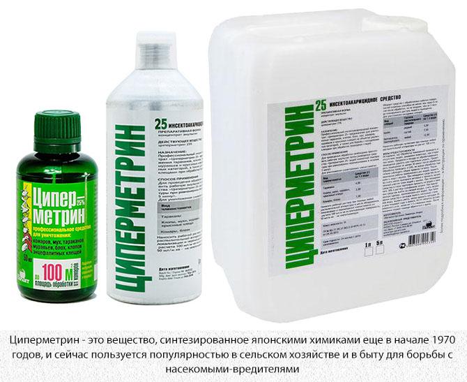 Циперметрин - средство для распыления от комаров и других насекомых