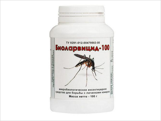 Инсектицидное средство от комаров Биоларвицид